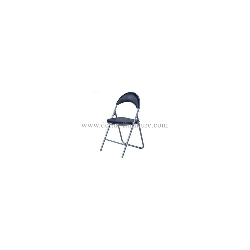 Delux Double Braced & Double Hinged Metal Folding Chairs with Black Finish