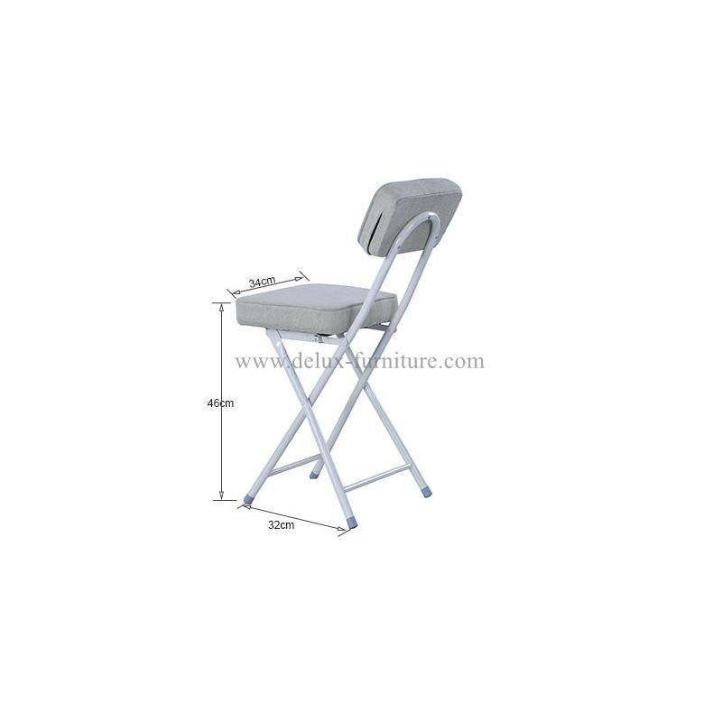 leather Cushioned Folding Stool