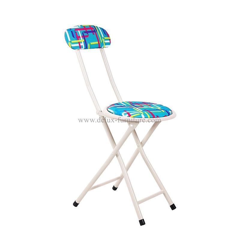 Pleasing Professional Folding Stools With Fabric Cushioned Padded And Creativecarmelina Interior Chair Design Creativecarmelinacom