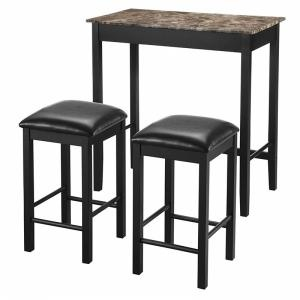 Faux Marble Pub Dining Set